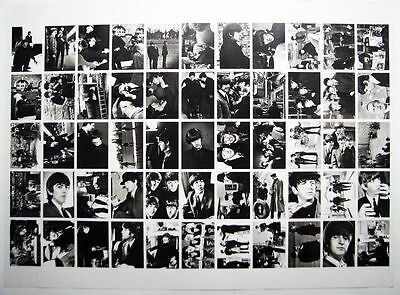 """1964 Topps Beatles Movie """"A Hard Day's Night"""" Complete Set on Uncut Sheet"""