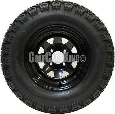 "12"" Black Steel Wheel and 23x10.5-12 X-Trail (6-ply) Tire Golf Cart Combo"
