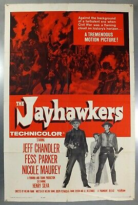 The Jayhawkers - Jeff Chandler / Fess Parker - Original Usa 1Sht Movie Poster