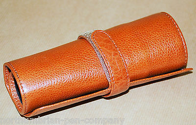 Aston Leather - Five Pen Leather Roll Up Case