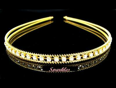 Beautiful Rhinestone Tiara/Headband- Brand New T71