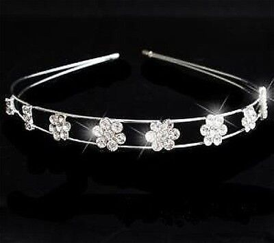 Beautiful  Crystal Flower Design Tiara/Headband- Brand New T22