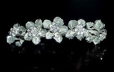 Beautiful Rhinestone Diamante   Crystal Tiara/Comb- Brand New T53
