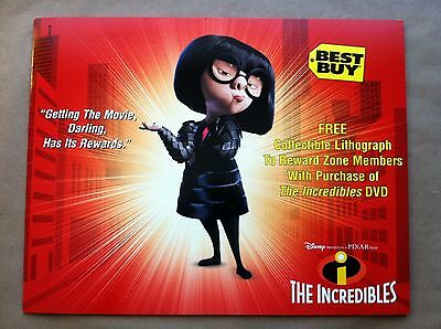 INCREDIBLES COLLECTIBLE LIMITED LITHOGRAPH ~ Disney & Best Buy Exclusive - 2004