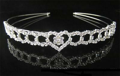 Beautiful Rhinestone Crystal  Tiara/Headband- Brand New T15