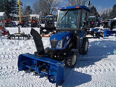 NEW HOLLAND TC26DA Compact 4WD Diesel Tractor Loader Snow Blower with Cab