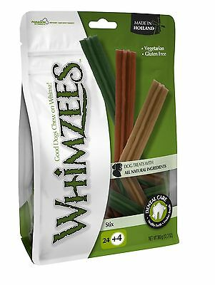Whimzees Handypack Bag Stix Small Chews Treats - 24pcs + 4FOC * NEW LOWER PRICE*