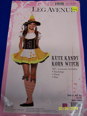 Candi Korn Candy Corn Sweet Retro Fancy Dress Up Halloween Child Costume w//Wig
