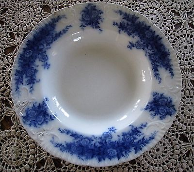 Antique 9 inch Burgess & Leigh Flow Blue Soup Salad Bowl Mabelle