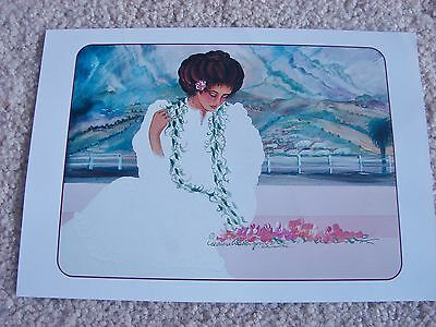 "Diana Hansen-Young 1990 Hawaiian Picture Print 7"" X 10"""