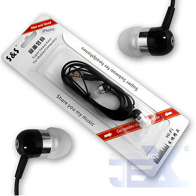 Silver Aluminum Earbuds Earphones with Mic/Remote for Iphone/Ipod/ipad S-13-4