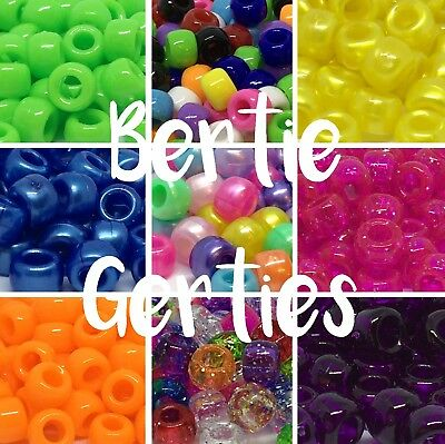 *3 FOR 2* Pearl Opaque Glitter Sparkle Pony Beads - Mix/single - 100/500/1000