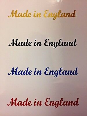 MADE IN ENGLAND Clear Kit Car Motorcycle Bike Stickers Decals 4 off 100mm