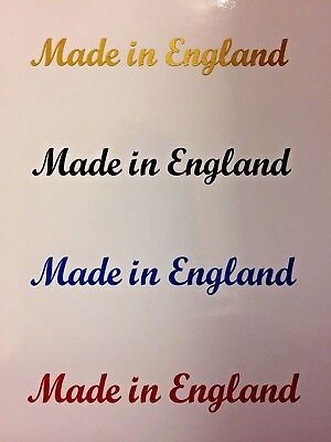 MADE IN ENGLAND  Kit Car Motorcycle Bike 4 x Stickers Decals 4 colours to choose