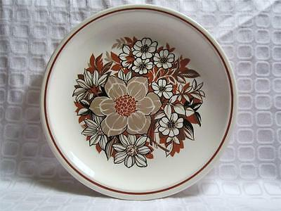 "TAYLOR SMITH & TAYLOR  WOOD ROSE PATTERN 10 1/4"" DINNER PLATE"