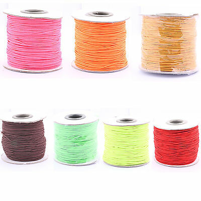 100 Yards 1MM Strong flat Elastic Stretchy Thread Cord Wire Beading Jewelry
