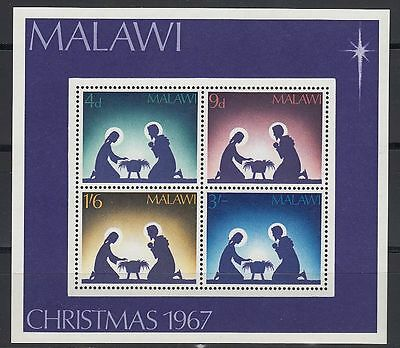Malawi 1966 ** Bl.9 Weihnachten Christmas Mary and Joseph [sq3054]