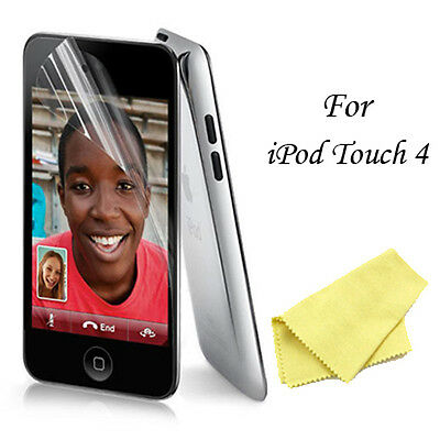 2X (Two) Clear Screen Protectors For iPod Touch 4 4G - PET Films