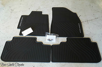New Oem Toyota Highlander Hybrid All Weather Floor Mats 4-Pc & 3Rd Row Seat Mat