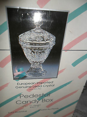 "Beautiful Echt Bleikristall  Germany 11"" PEDESTAL CANDY Compote w/ BOX-FREE SHIP"