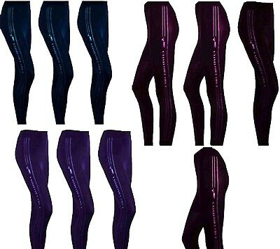 Girls Footless Tights Stretch Full Length Stretch Gym Comfort Tights 7-14YEARS