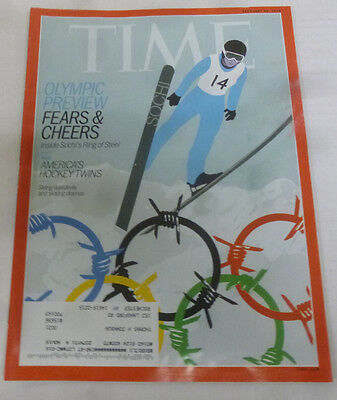 Time Magazine Olympic Preview Fears & Cheers February 2014 022414R
