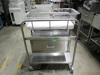 Blickman Built Stainless Steel Baby Bassinet Cart