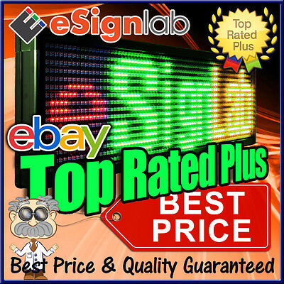 """LED Sign 3 Color RGY Outdoor Programmable Scrolling Message Display 15"""" x 40"""""""