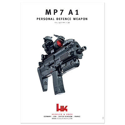 Heckler & Koch HK MP7 A1 *RARE* High Gloss Special Print Poster Limited Edition