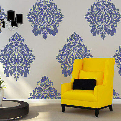 Damask Stencil Norah Large size, Wall stencils template for DIY decor