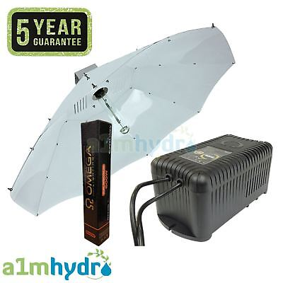 Omega 600W Watt Metal Vented Ballast Parabolic Shade Grow Light Kit Hydroponics