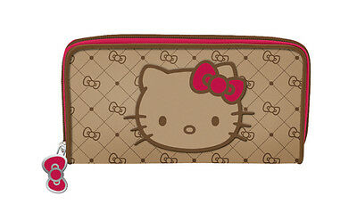 NEW SANRIO HELLO KITTY CREDIT CARD ID LONG WALLET Graphite Jacquard