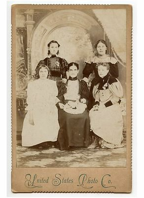Mother + 4 Daughters, Mrs William Badman/osceola Mills, Cabinet Card