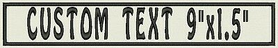 "2 Rectangle Custom Embroidered Name Tag, Biker Patch, badge for Vest 9"" x 1.5"""