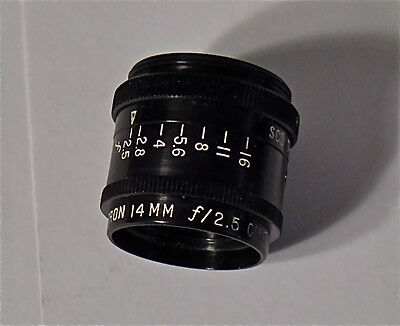 Anstron 14mm F2.5 C Mount Wide Angle Cine Lens New Unused NOS