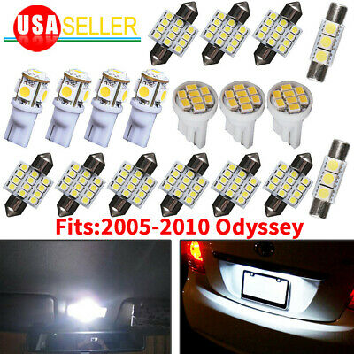 18x Pure White Interior LED Dome Map Lights Package Kit For 05-10 Honda Odyssey