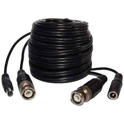 20M BNC to BNC + 2 DC CCTV Cable Video And Power In One Cable RG59 + 2DC Premade