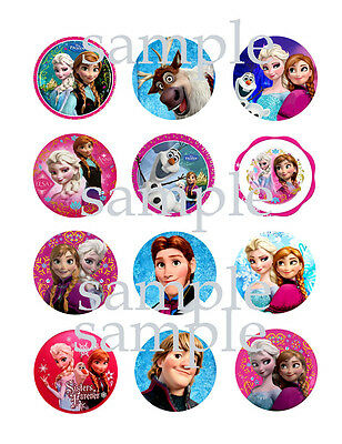 FROZEN Assorted Edible Photo CUPCAKE Image Icing Decoration Toppers DIsney