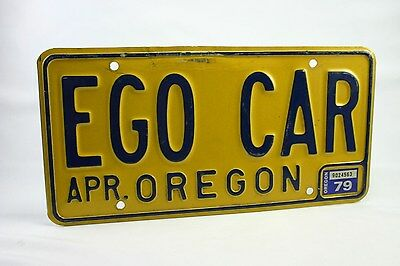 Oregon 1979 License Plate EGO Car - Cool Plate