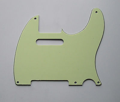 Vintage 5 Hole Tele Style Guitar Pick Guard Mint Green Fits Telecaster Guitar