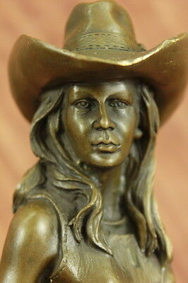Bronze Welcome Home Statue Western Moments Cowboy Cowgirl Hot Cast Figurine Sale