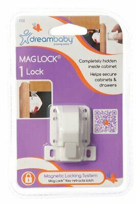 DreamBaby Mag Lock Single - Child Proof Safety Magnetic Cabinet Door Locks L153