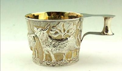Antique Copy In Silver Gilt Of The Vapheio Cup Chester 1911