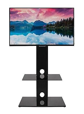 Cantilever Glass TV stand with built in bracket LCD LED Plasma 32 37 40 42 43