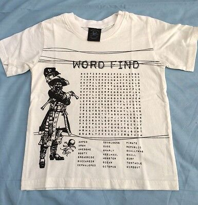 Boys 4T Boutique Pirate Word Find Shirt NEW  Monster Republic SPRING