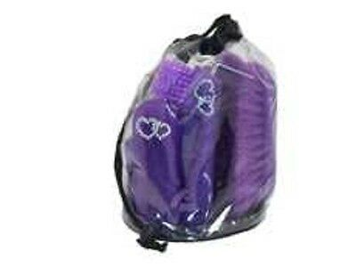 Bitz Childs Horse and Pony Glitter Grooming Kit Bag and Brushes, Purple or Pink