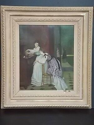 Decorative Antique Victorian Style Oil Painting