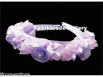 ***New In Stunning***Beautiful  Lilac Organza Tiara/Headband- Brand New T43