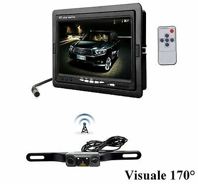 "Kit retromarcia auto camper wireless senza fili: Monitor TV Lcd 7"" + Telecamera"