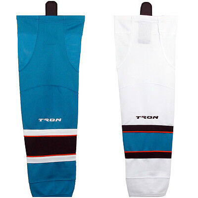 "San Jose Sharks Hockey Socks DRY FIT Edge Insp.  24"" or Adult 30"" Tron SK300"